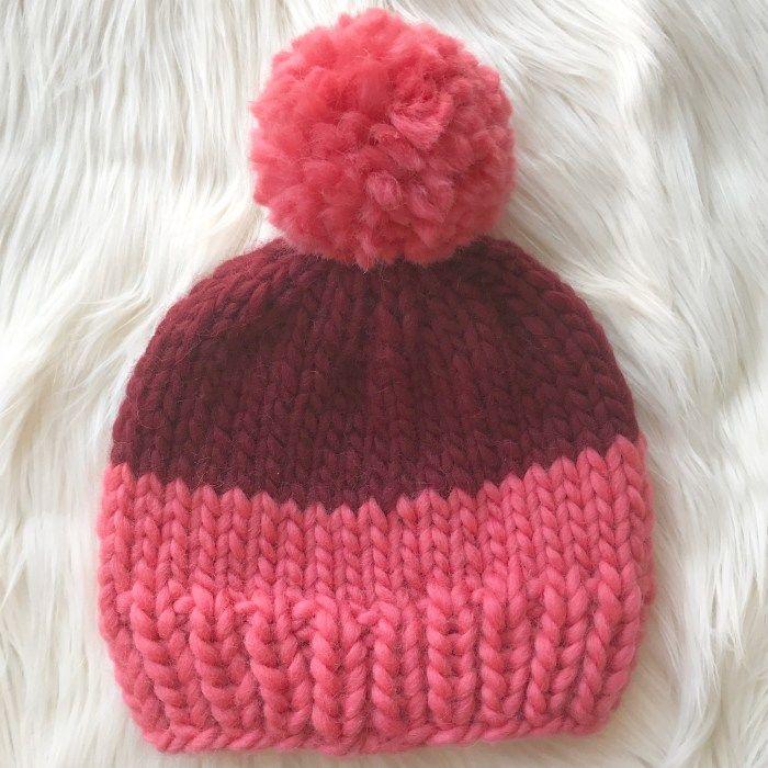 Two-Tone Chunky Beanie - ZoeCreates | Knitting patterns ...