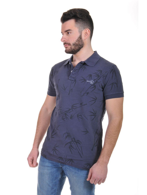0b1f557762e6 BASEHIT Ανδρική πικέ πόλο μπλούζα