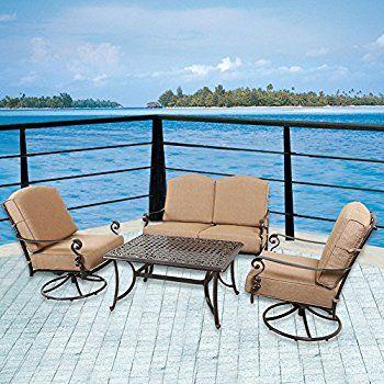 Amazon.com : Domi Outdoor Living Patio Furniture Dining Set 4 PCS Garden  Outdoor Indoor