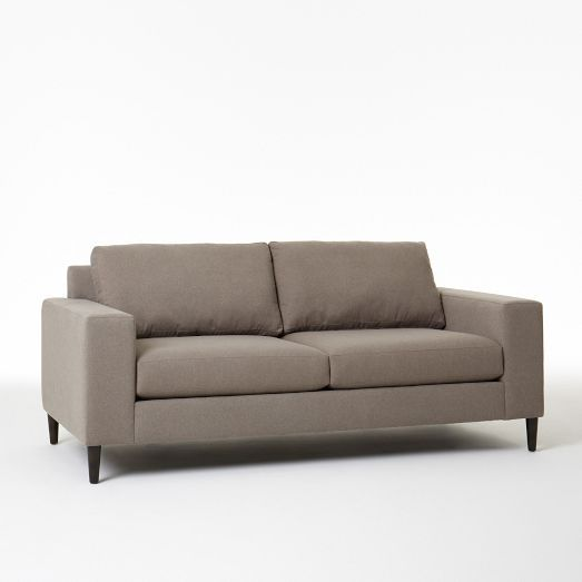 West Elm | York Sofa $999 In Mink Marled Microfiber (1 3 Week Delivery)