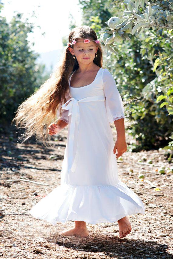 Hawaiian Wedding Flower Girl Dress