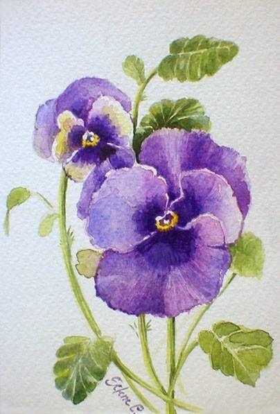 Dipingere fiori ad acquarello modelli esempi da copiare for Immagini di fiori dipinti