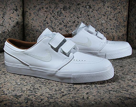 Nike Sb Stefan Janoski Se Velcro Au Tennis Blanc
