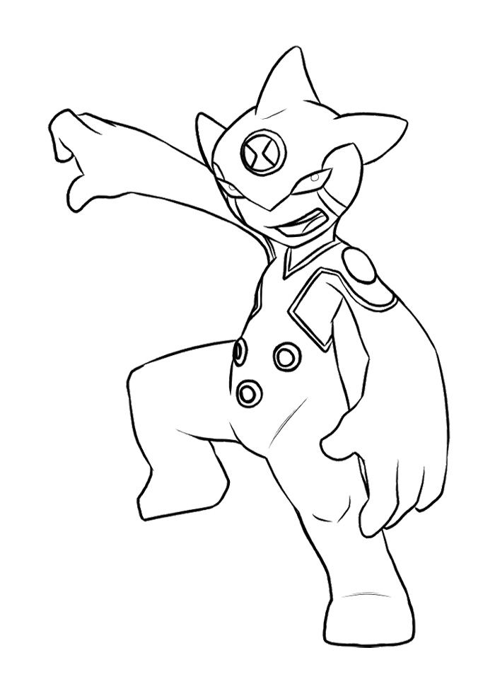 Alien Ditto Change Of Ben Tennyson Coloring Page Coloring Pages Cartoon Coloring Pages Pokemon Coloring Pages