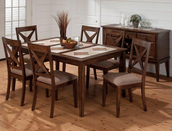 Pin By Rebekah Shupock On For The Home Wood Dining Room Set Dining Table In Kitchen Brown Dining Table