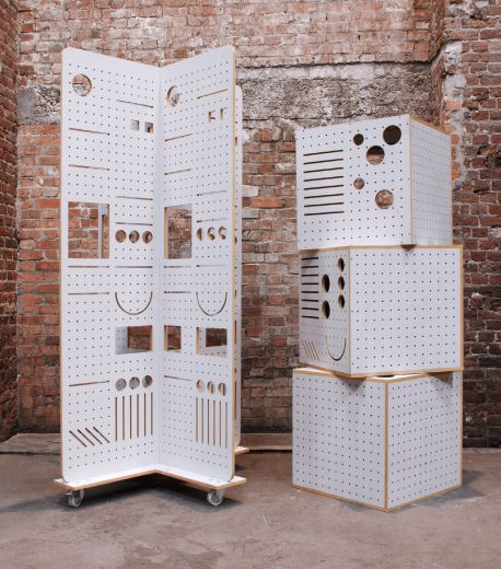 no Idea what these are, but they are cool pegboard cubes  Capstone_Exhibition ...