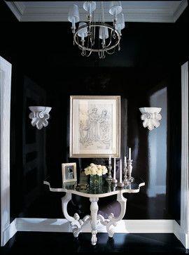 Décoration Intérieure Entrée Hall Couloir Noir Et Blanc