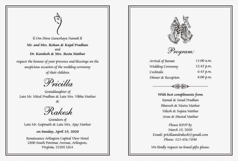 26 Wonderful Photo Of Wedding Reception Invitation Wording 26 Wonde Hindu Wedding Invitation Wording Wedding Card Wordings Indian Wedding Invitation Wording