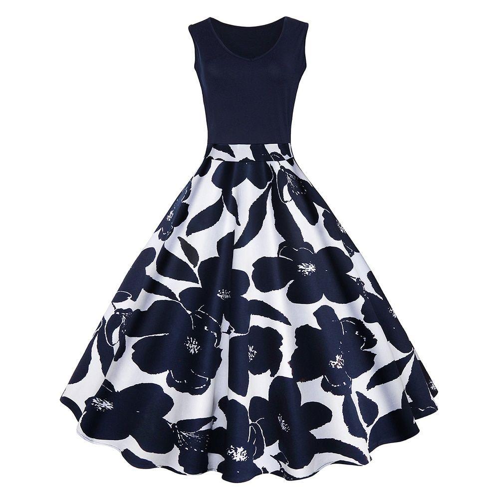 Floral Print High Waist Retro Vintage Dresses  Price: 24.68 & FREE Shipping*   #gym #design #instapi...