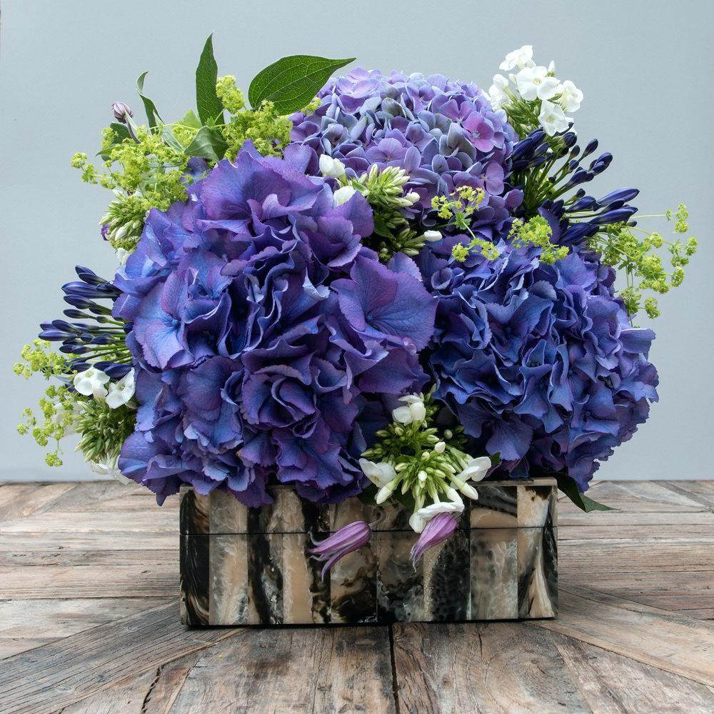 Ivory Peony and Blue Hydrangea Bouquet | Beautiful, Posts ... |Light Blue Hydrangea Bouquet