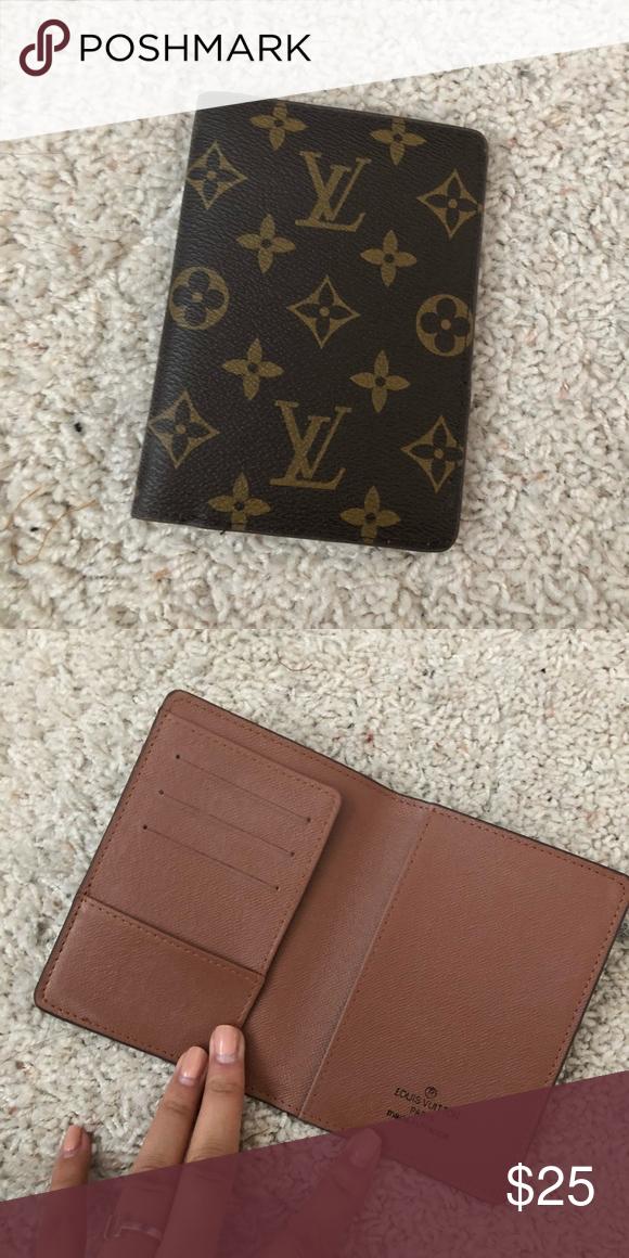 7dc36e6e4733 Passport holder Louis Vuitton pattern passport cover. Not authentic  Accessories