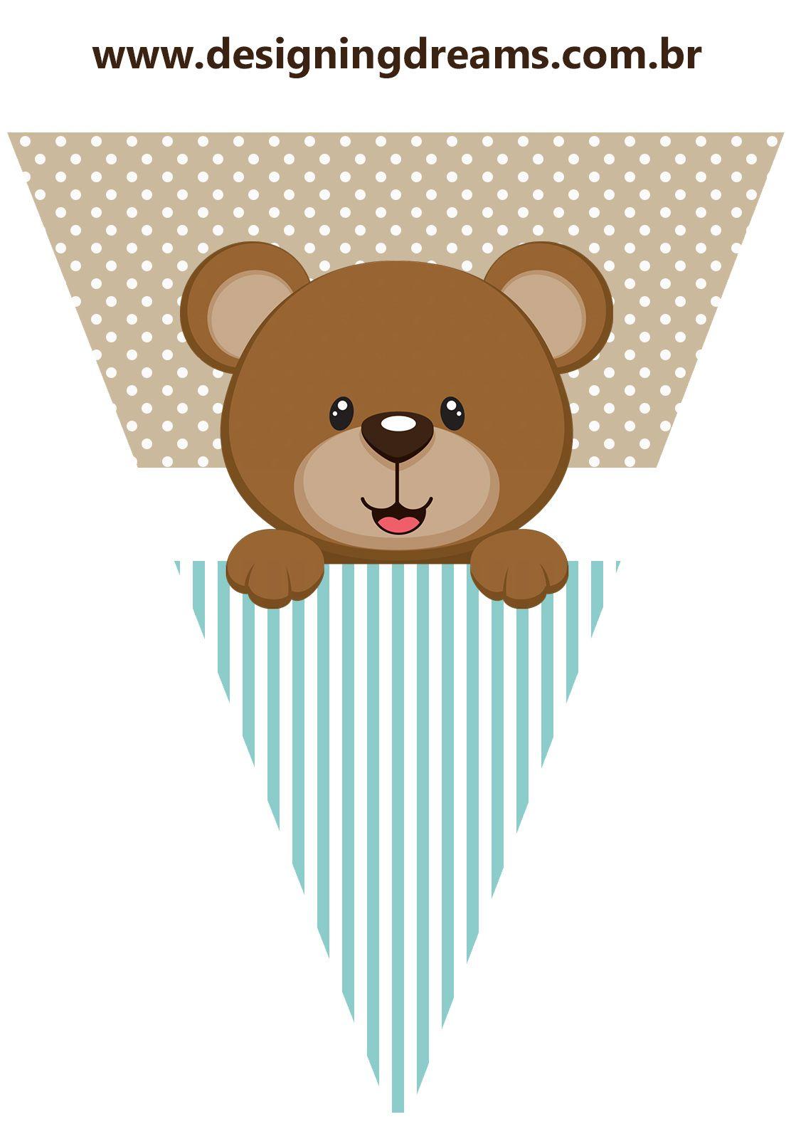 Osito para Fiesta de Niño: Mini Kit para Imprimir Gratis. | Ideas ...