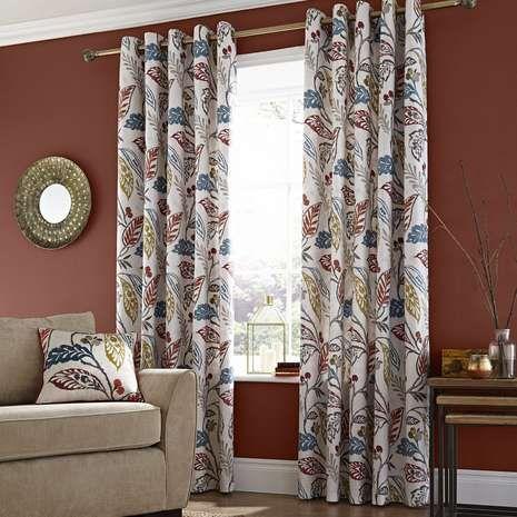 Indiana Lined Eyelet Curtains