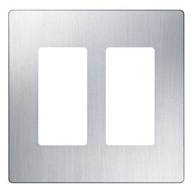 Lutron Claro 2 Gang Stainless Steel Double Decorator Wall Plate Cw