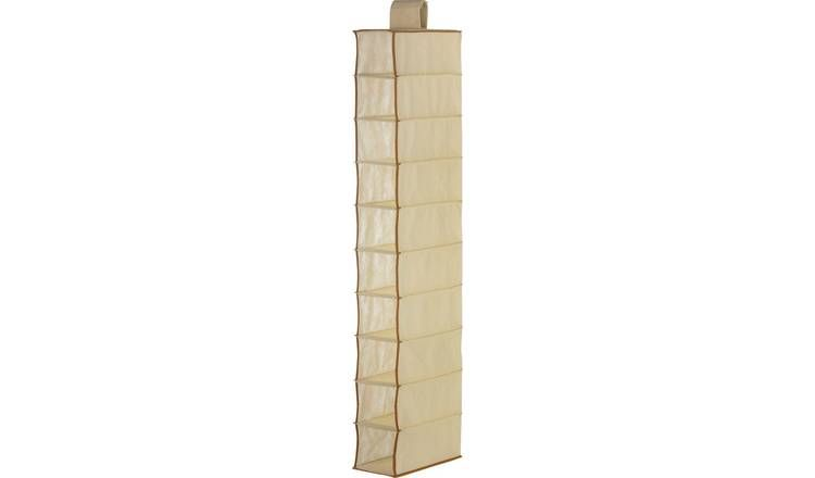 good entire collection cheap price Buy Argos Home 10 Pocket Hanging Canvas Shoe Storage - Cream ...