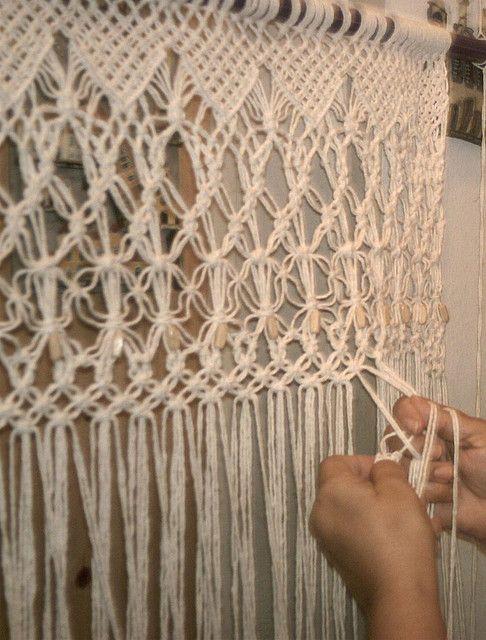 fazendo uma cortina de macrame