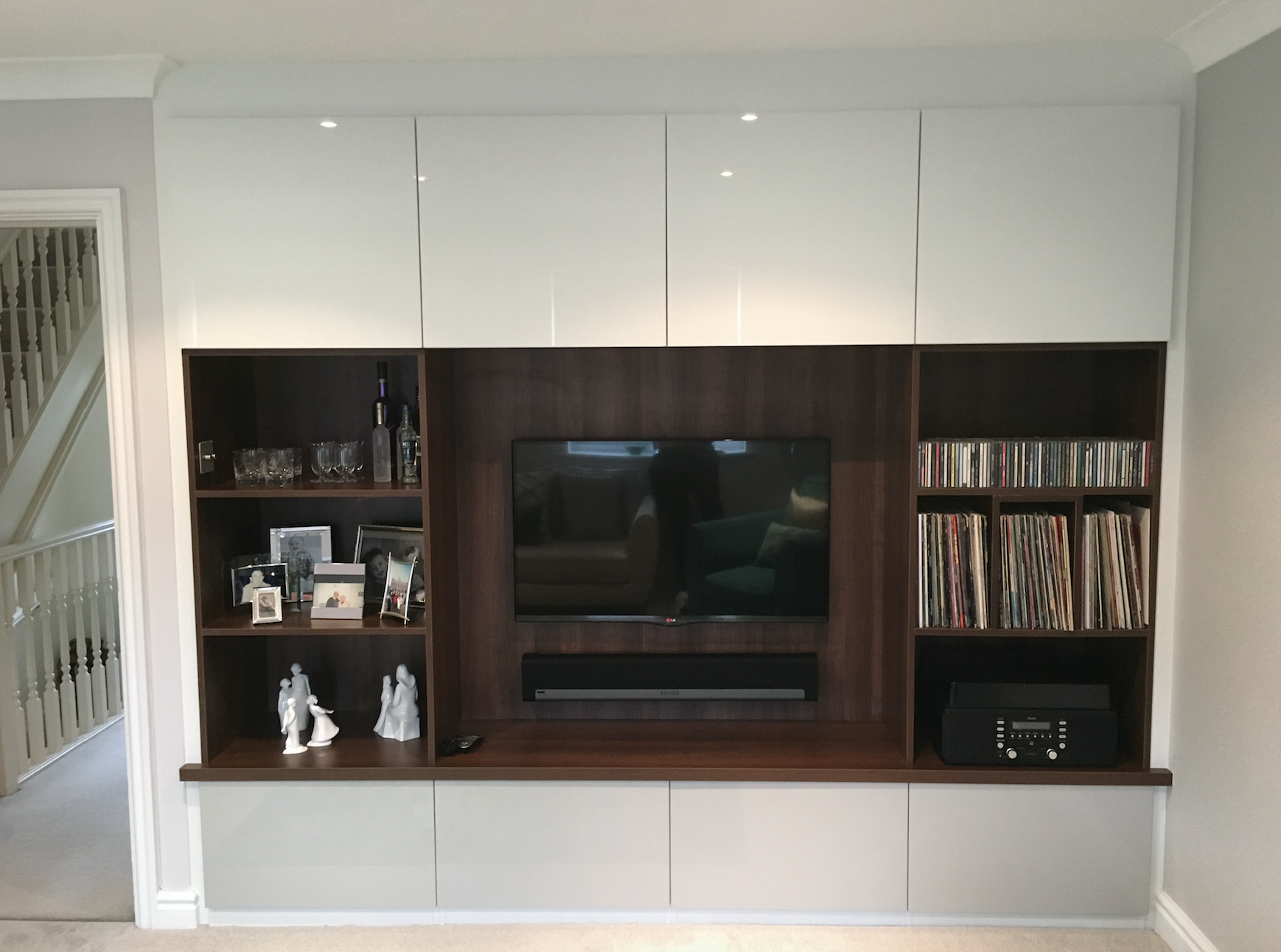 bespoke fitted tv area media areas kitchen cabinets furniture room rh pinterest com