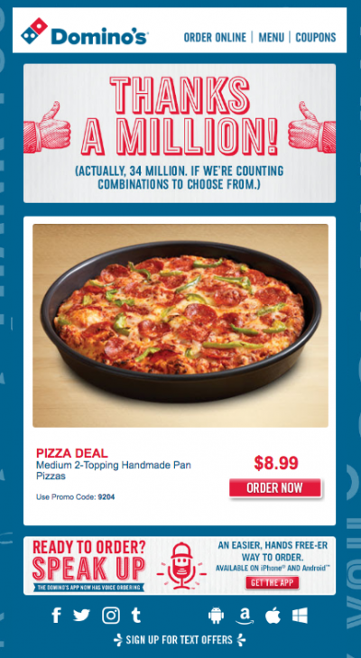 domino pizza marketing plan