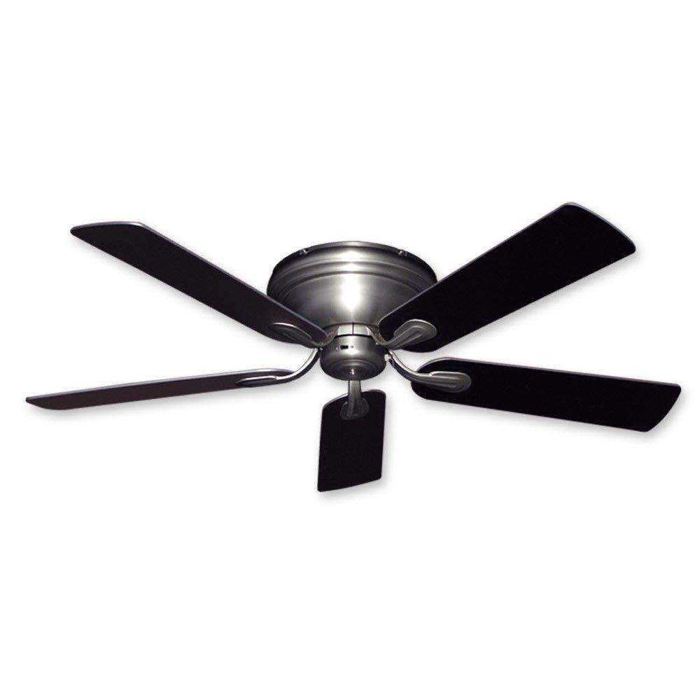 Stainless Steel Ceiling Fan With Light Flush Mount