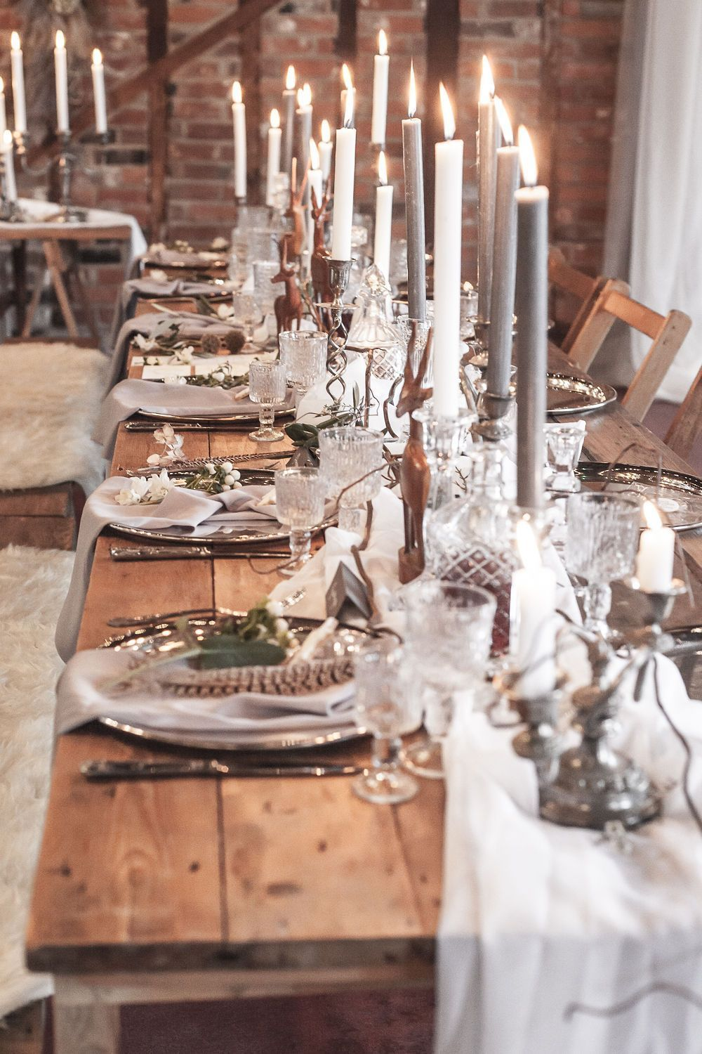 Styled Shoot || A Winter Wedding with a touch of Nordic Meets Narnia – brideandtonic.com  #tablescape #winterwedding #winterwonderland #narnia #nordic #icequeen #boholuxe
