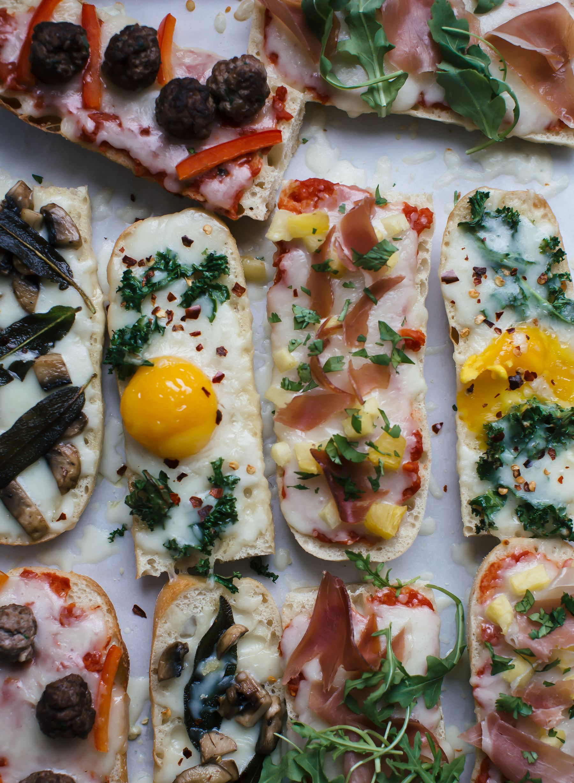 French Bread Pizzas Recipe French bread pizza, Food