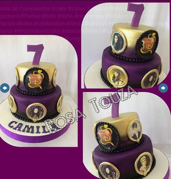 Descendants Cake Lilys 7th Birthday In 2018 Pinterest
