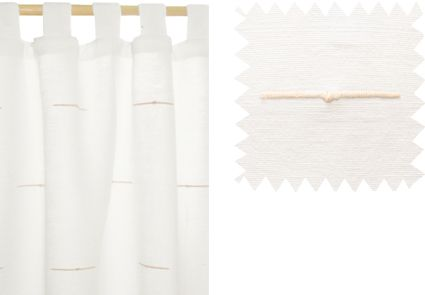 Hand spun and hand woven cotton curtains by Chandni Chowk
