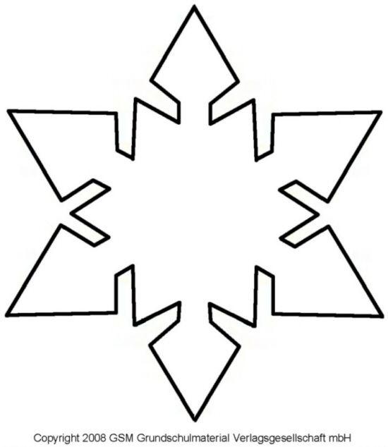 Schneeflocke Vorlage Zum Ausschneiden Snowflake template