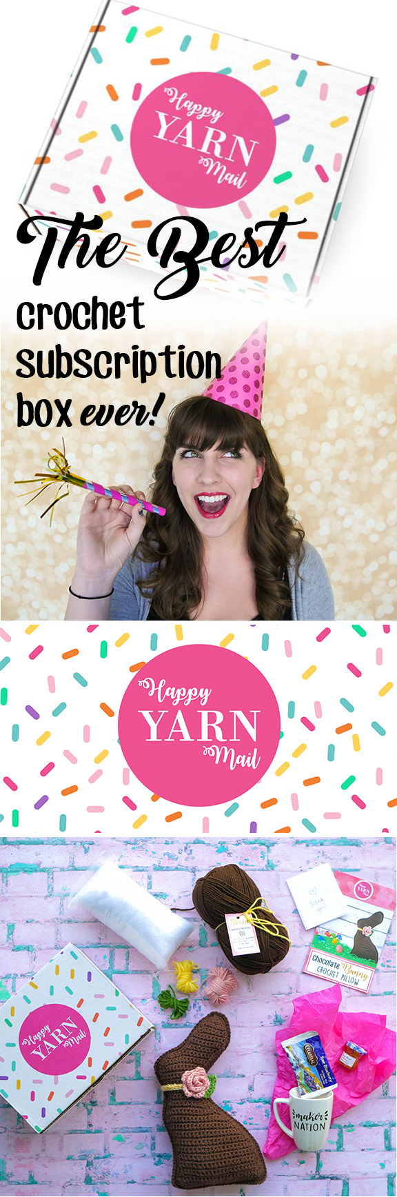 The Best Crochet Subscription Box Ever Is Here Happy Yarn Mail Is A Monthly Box Delivered Right To Your Door F Crochet Instructions Yarn Easy Crochet Patterns