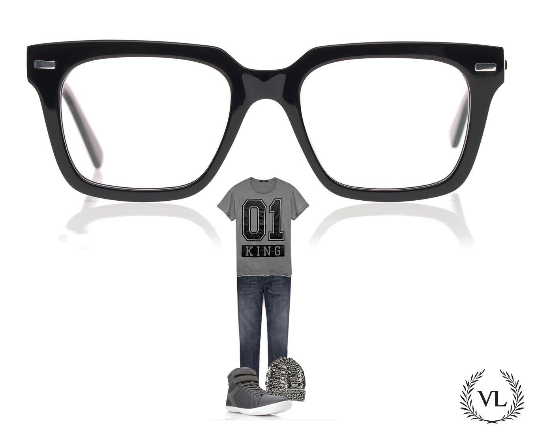 Look de homem, cinza com óculos da Via Lorran.