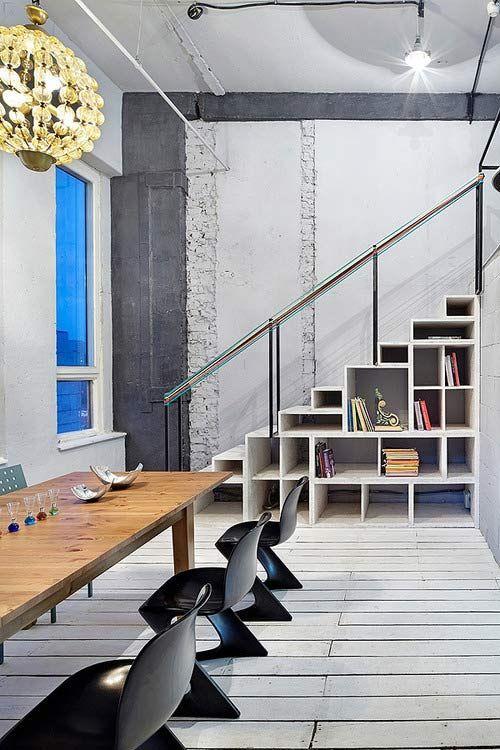 muebles bajo escaleras arquitectura e interiores On estantes para bajo escalera