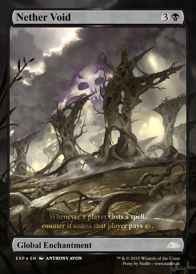 Mtg Altered Fullart Proxy Nether Void By Nedliv Mtg Altered Art Mtg Magic The Gathering Cards