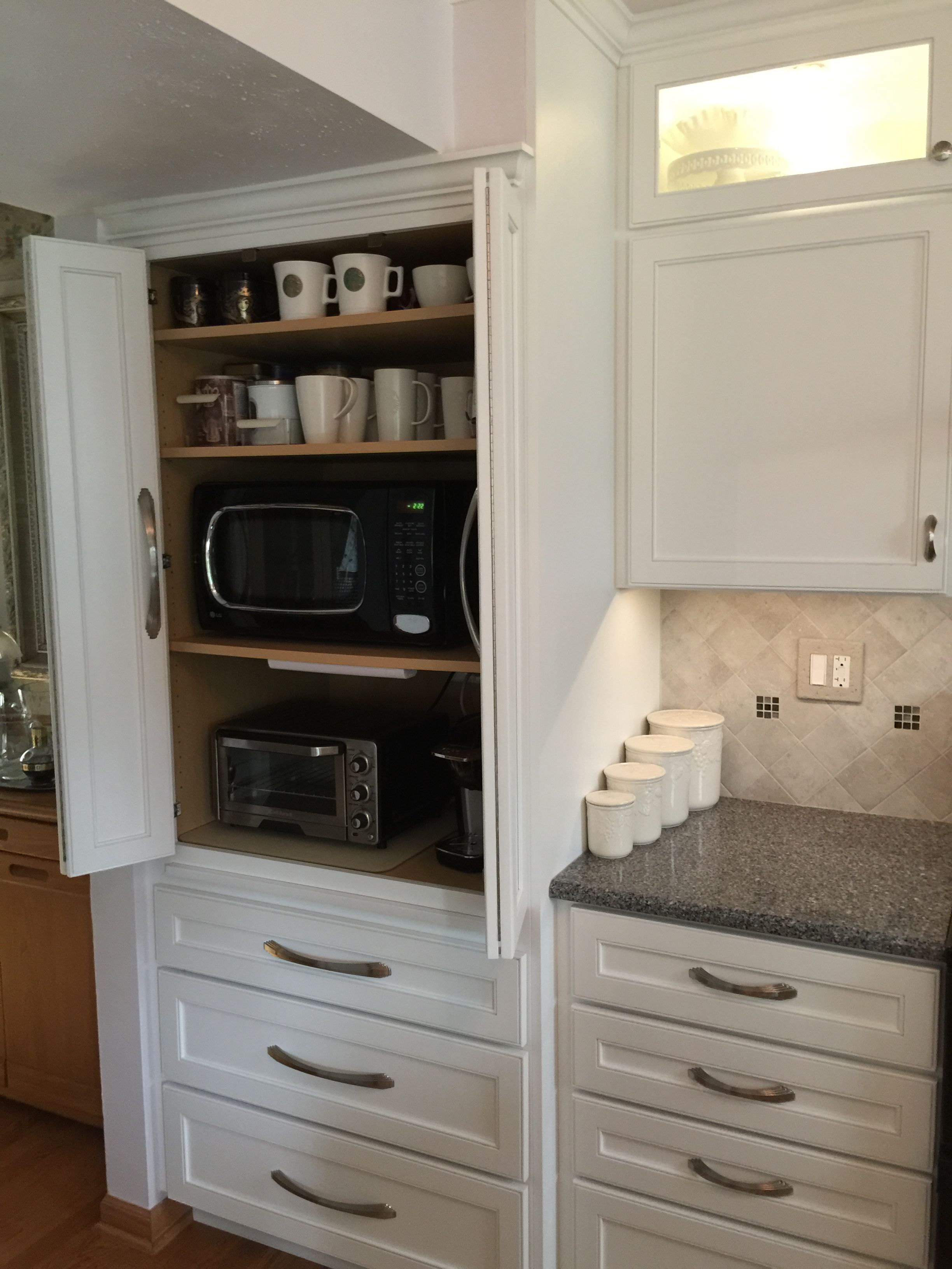 Exceptionnel Appliance Cabinet. Great To Hide Microwave, Toaster Oven, Coffee Maker.