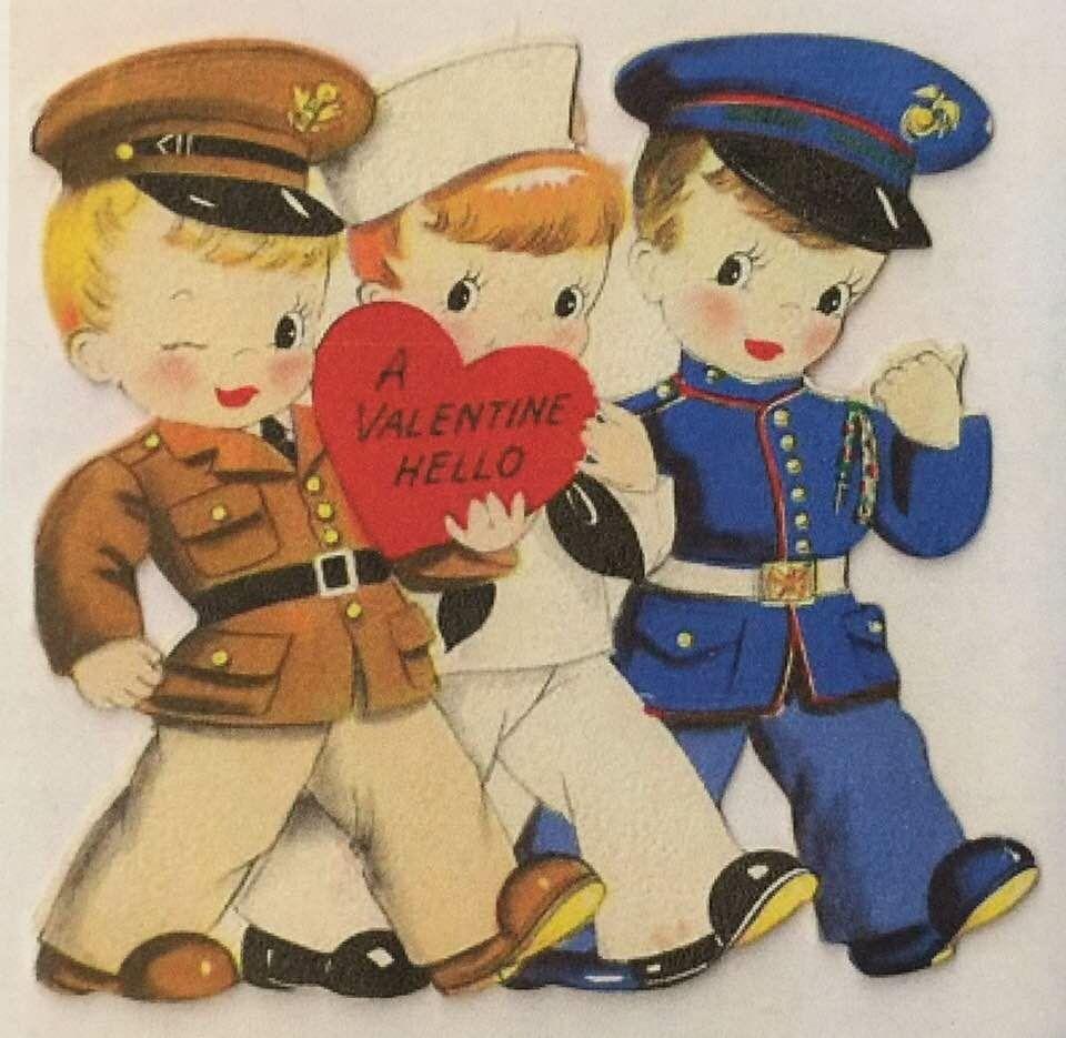Patriotic valentine with images military valentines