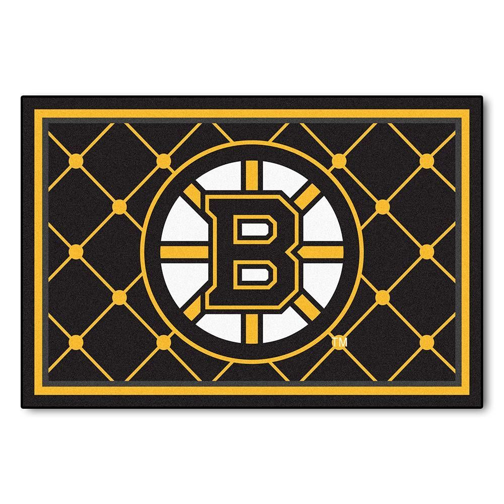 Boston Bruins Nhl 5x8 Rug 60 Quot X92 Quot Boston Bruins Logo