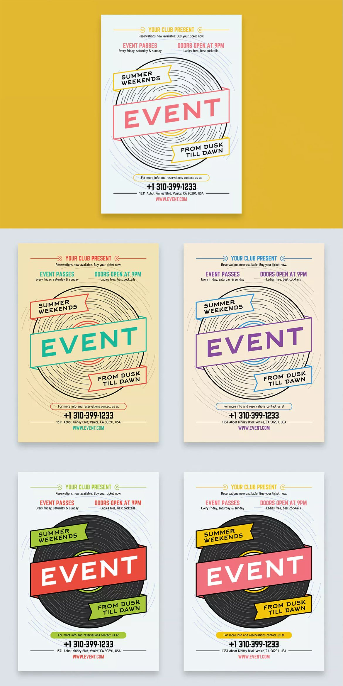 music event poster template ai a2 | poster templates | pinterest, Powerpoint templates