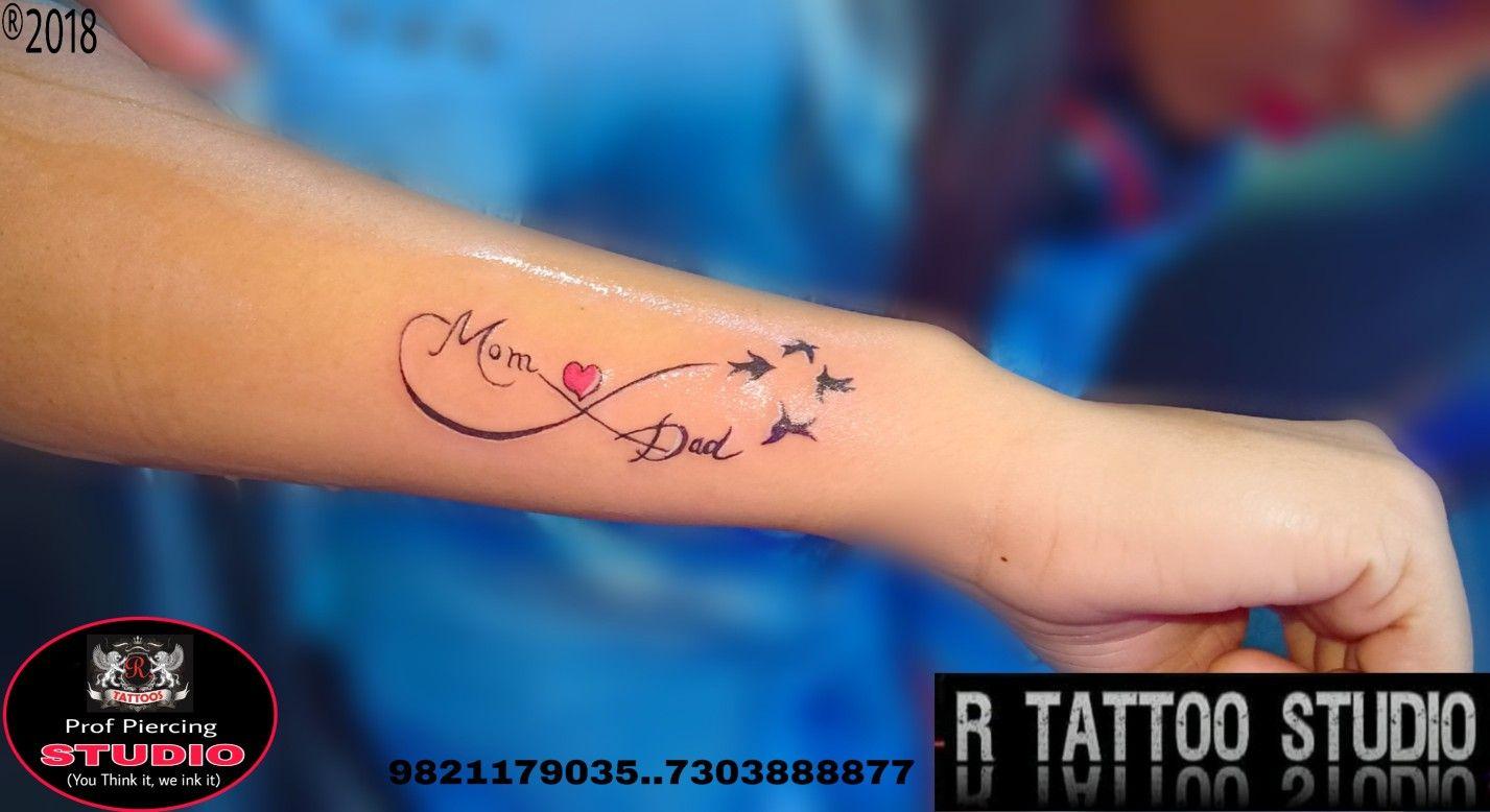 Mom Dad Tattoo Memorial Infinity tattoo bird tattoo R tattoo ...