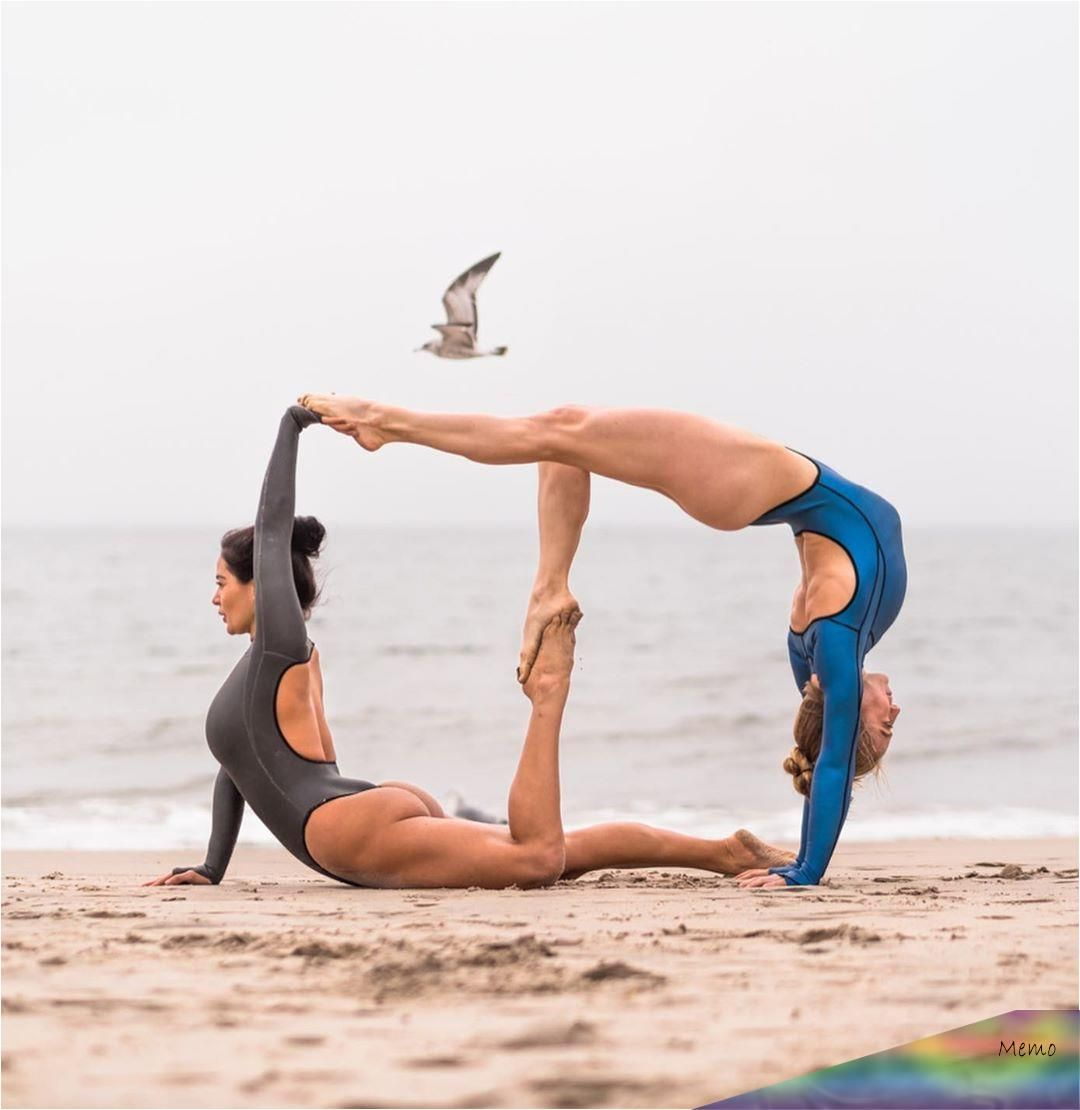 Feb 3 2020 Yoga Partner Poses Friends Yoga Couple Challenge Partner Acro Yoga Yoga Friends Partner Yo Yoga Challenge Poses Gymnastics Poses Acro Yoga Poses