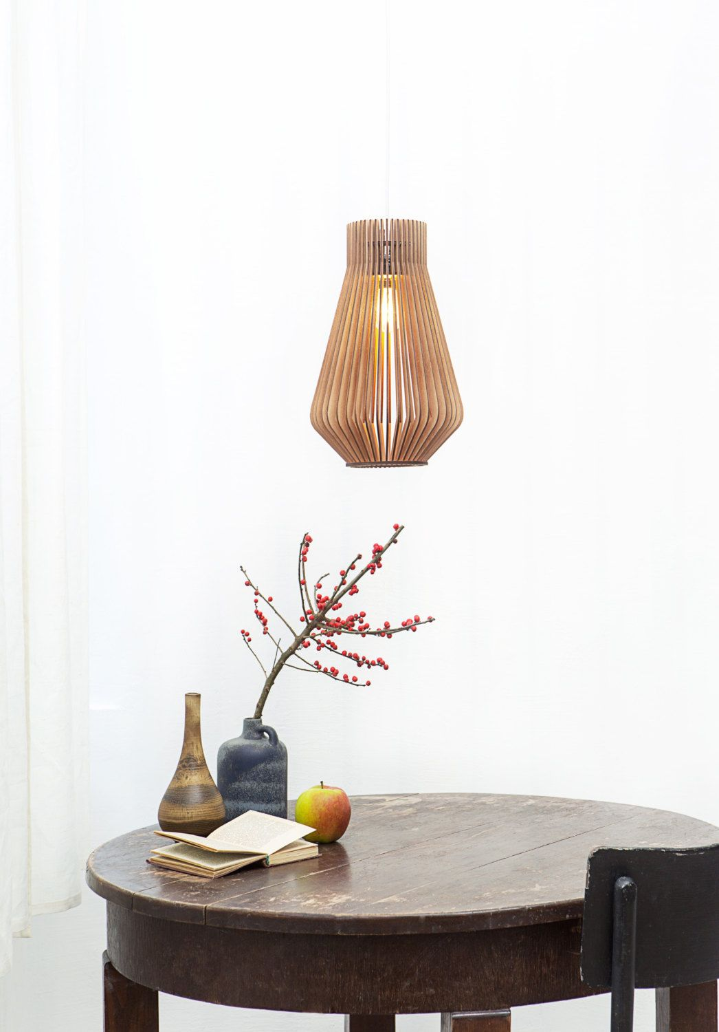 Hängeleuchte Holz Design Scandinavian Style Wooden Hanging Lamp Lighting Design Lamp