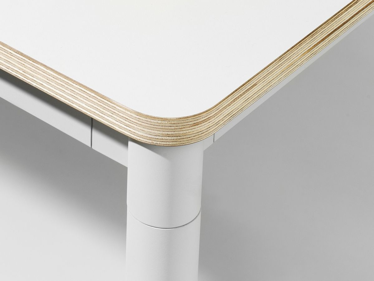 Muuto Base Dining Table White Laminate Table Top With Plywood
