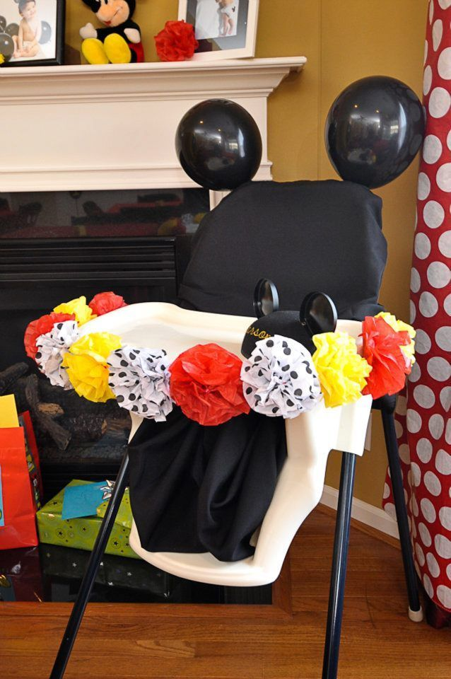 Babys First Lap Around The Sun Is A Big One Celebrate It With Epic Birthday High Chair Decorations Mickey Mouse