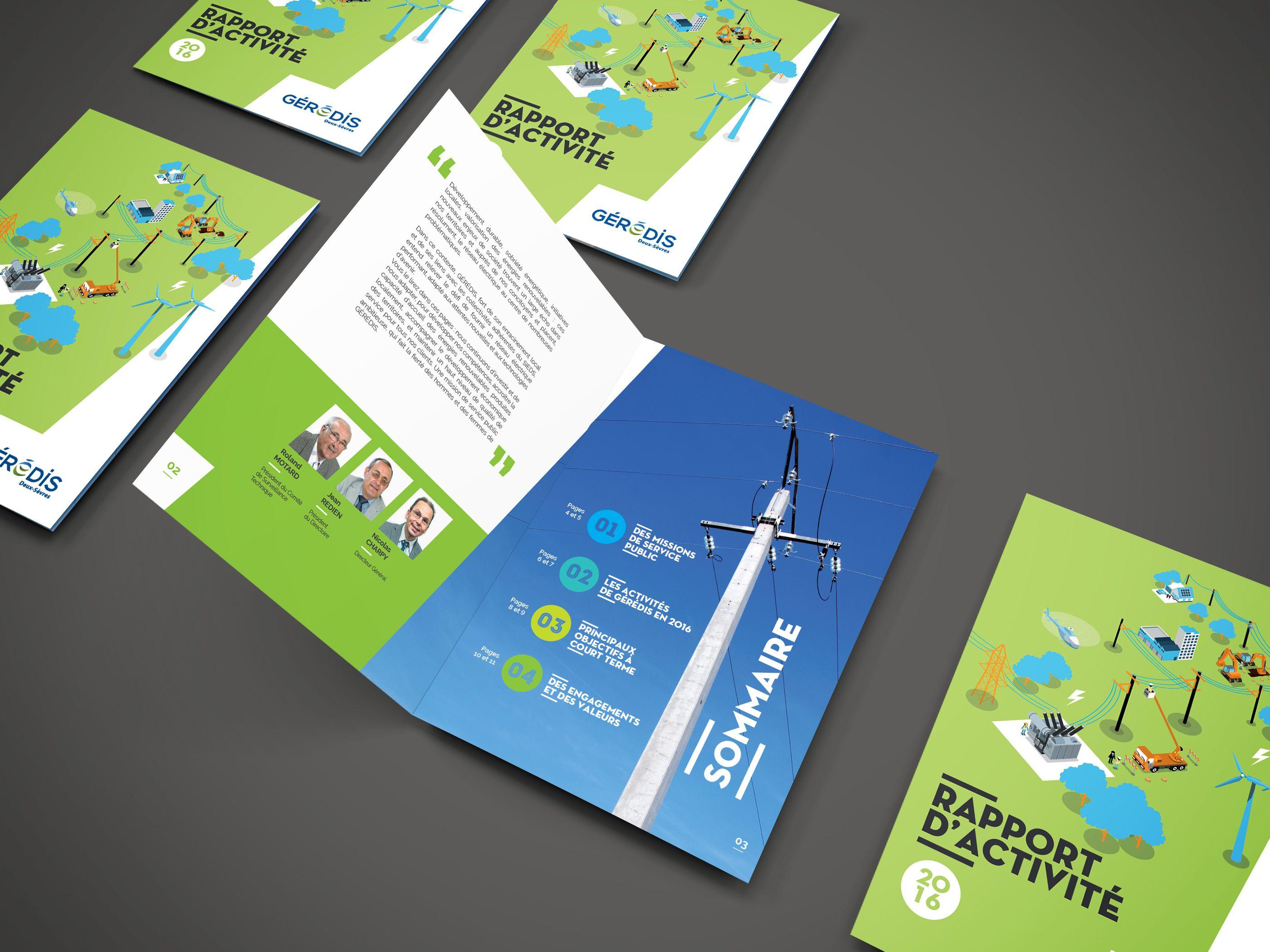 Direction Artistique Design Graphique Pour Le Rapport D