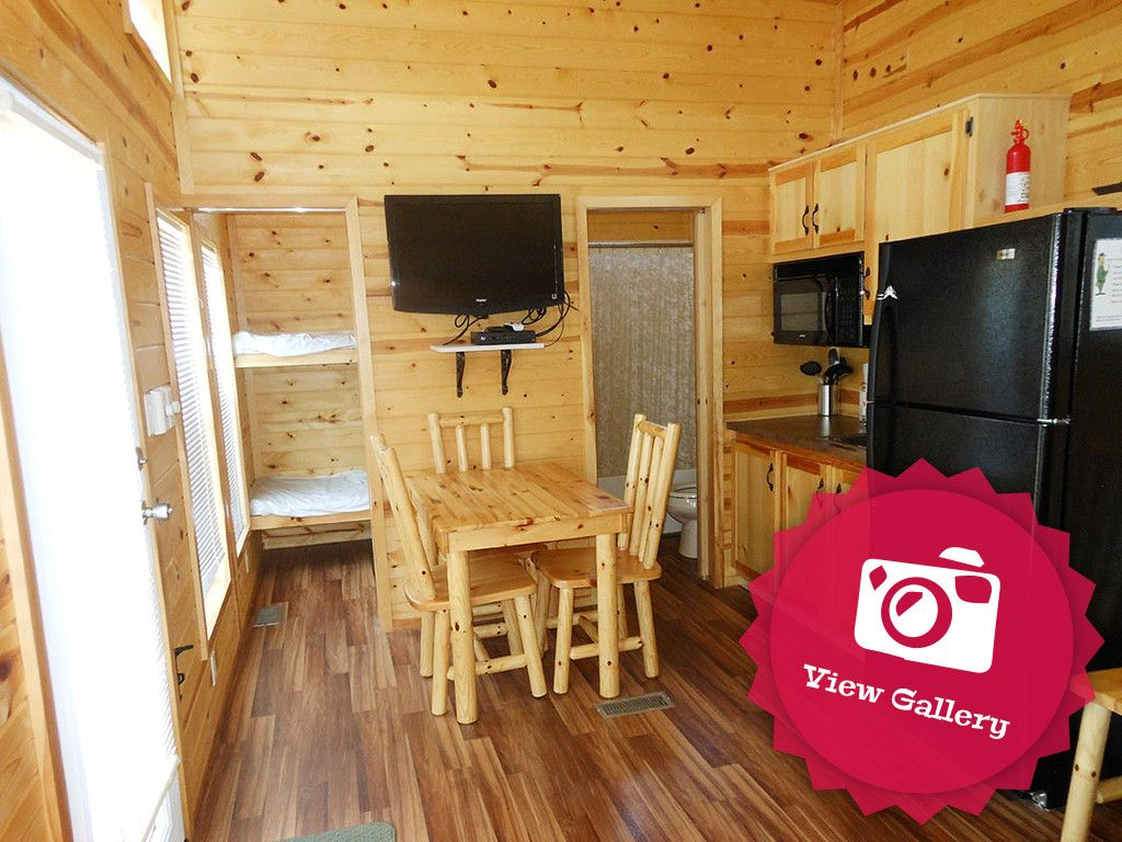 Jellystone Park at Lake Monroe has 5 types of rental cabins in