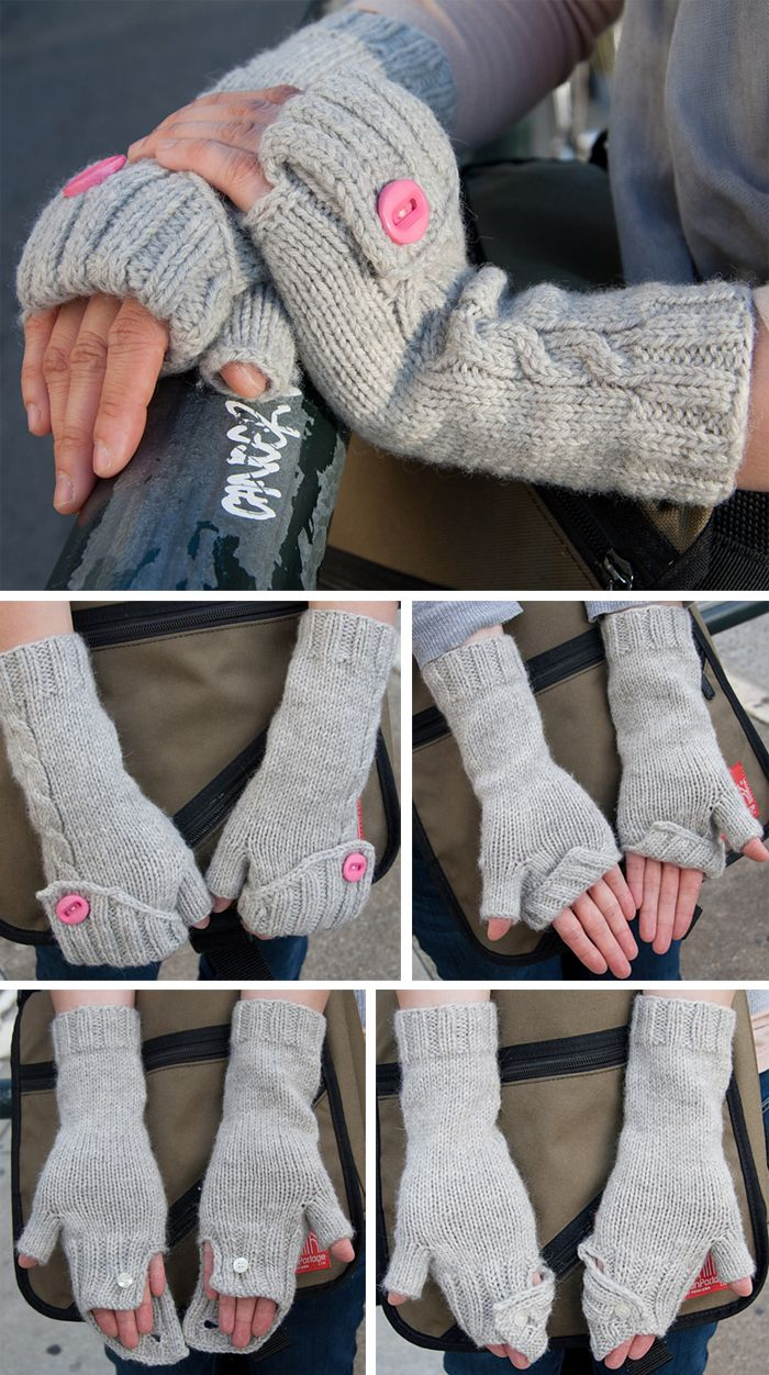 Free knitting pattern for commuter mitts cabled convertible free knitting pattern for commuter mitts cabled convertible fingerless gloves with a folded ribbed cuff that can be buttoned in a variety of ways to keep bankloansurffo Image collections