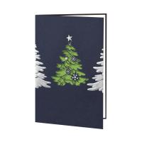 hochwertige weihnachtskarte edel dunkelblauer. Black Bedroom Furniture Sets. Home Design Ideas