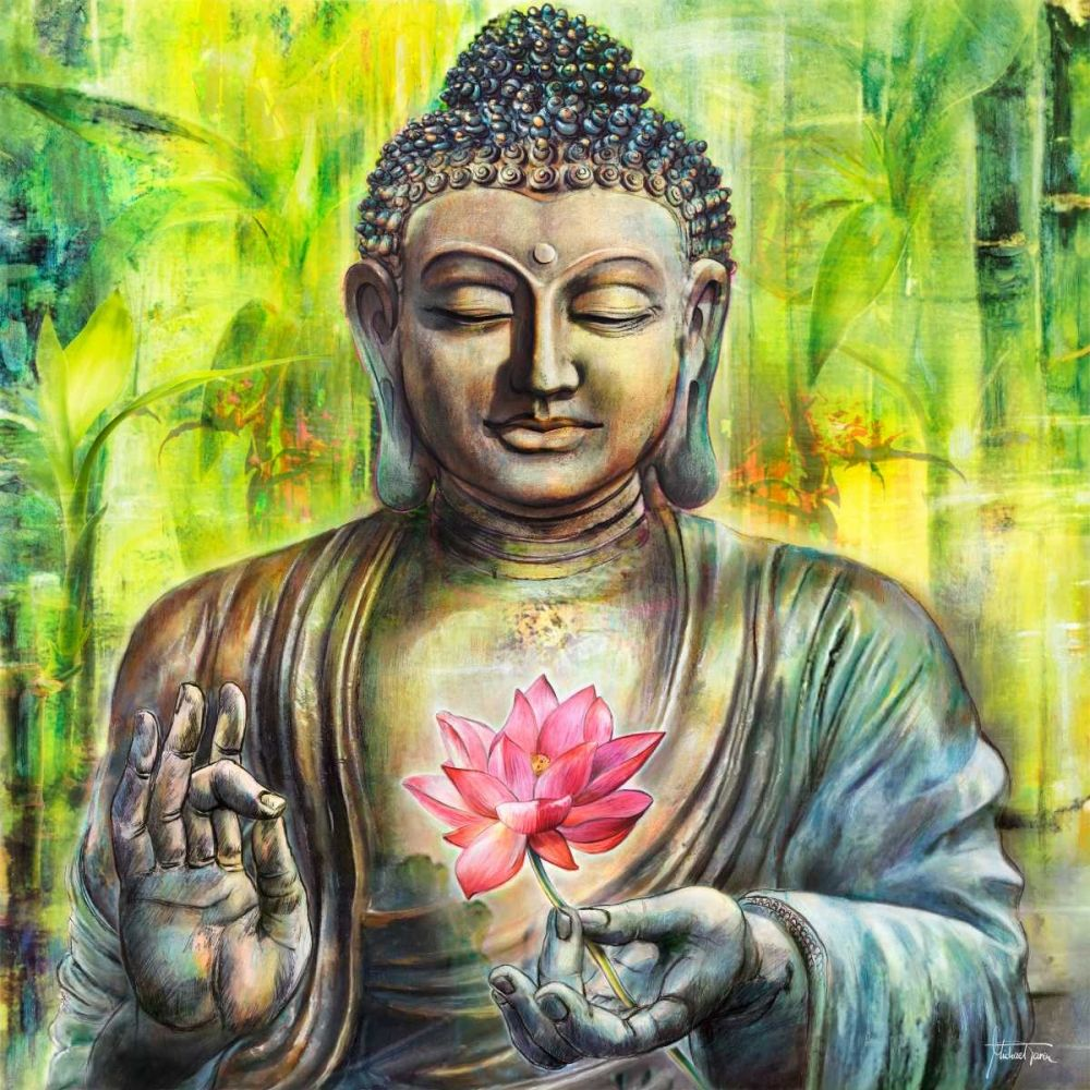 Kunstdruck In Wunschgrosse Von Tarin Michael A Buddha In Peace Buddha Kunst Buddhistische Kunst Buddha Gemalde