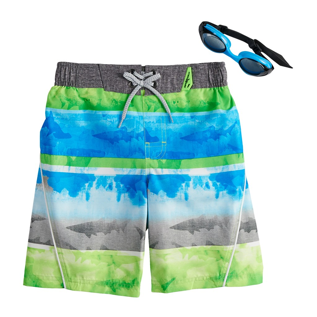 2d2f1601ad Boys 4-7 ZeroXposur Tie Dyed Swim Trunks & Goggles Set, Size: Large ...