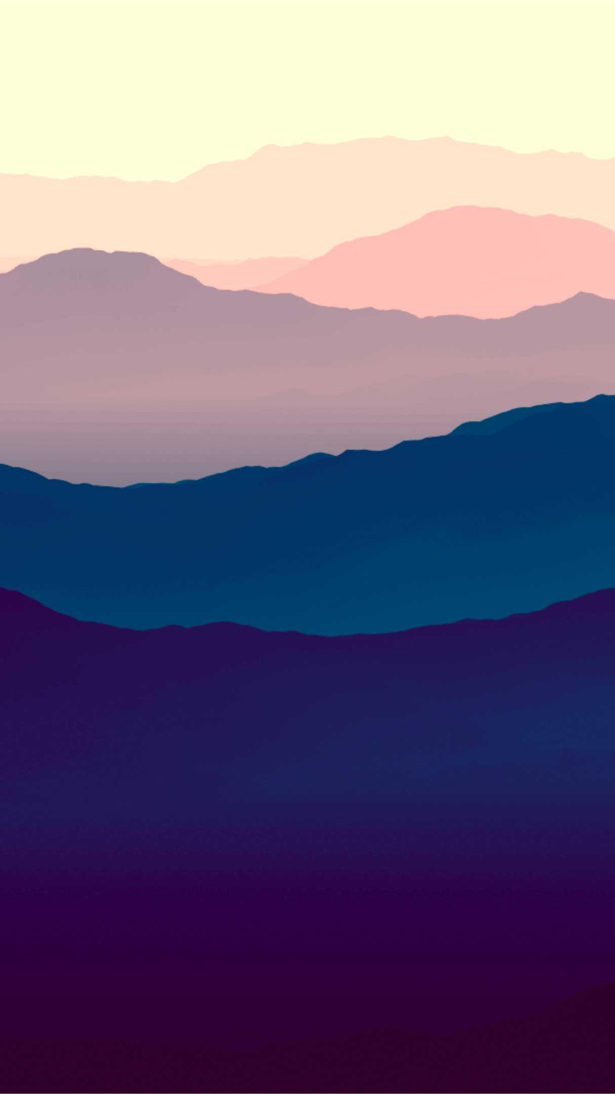 Mountains Landscape Purple Gradient Horizon Minimal Hd K Iphone Wallpapers Hd In 2020 Best Nature Wallpapers Iphone Wallpaper Ocean Nature Wallpaper