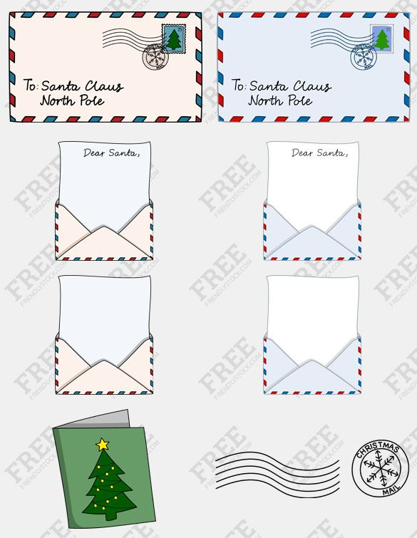 Free Graphic Letters To Santa Claus  Christmas Letters Santa