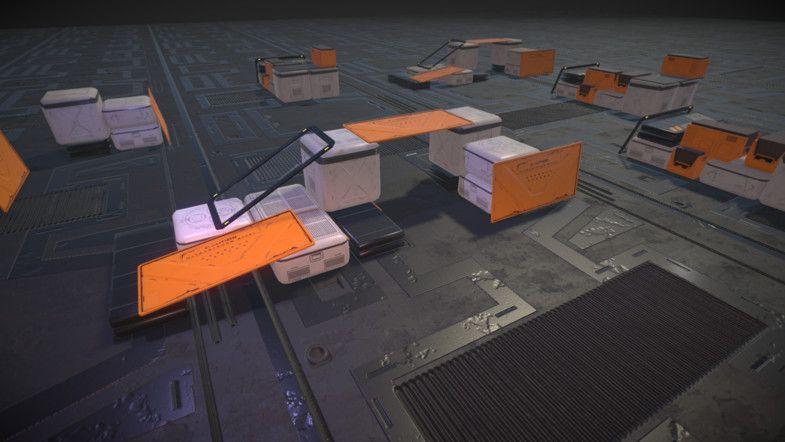 Crate Set PBR AD3D SetCratePropsPBR Crates, Unity